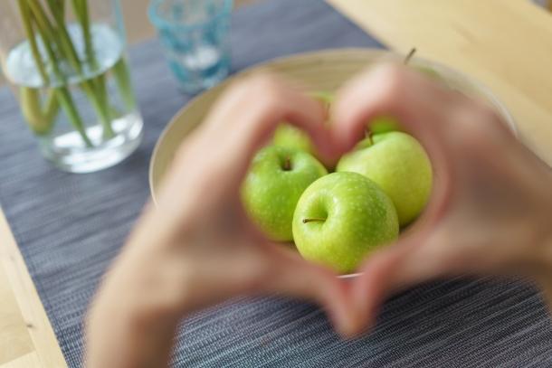Tovább élhetsz, ha almát eszel.