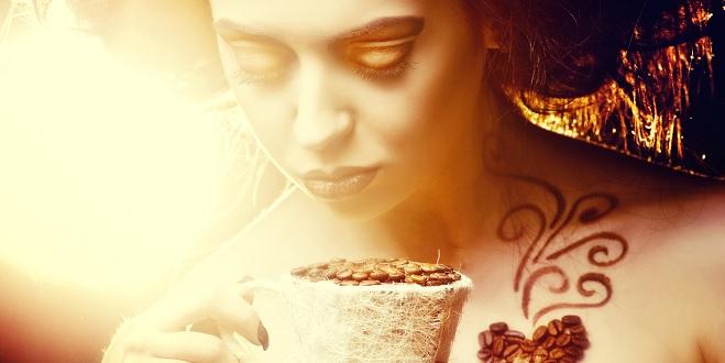 Kávés szépségápolás.